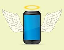 De engel van Smartphone Stock Afbeeldingen
