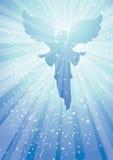 De engel van stralen royalty-vrije illustratie