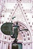 De engel van de tribuneshorloge van Sevilla royalty-vrije stock foto