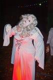 De engel verschijnt in Halloween Royalty-vrije Stock Foto's