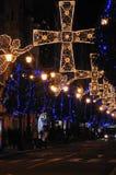 De engelen en de kruisen van Kerstmis. Royalty-vrije Stock Afbeeldingen