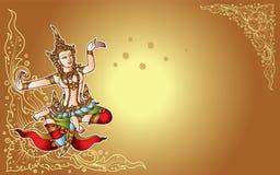 De engelen oud concept van de dans Thais fee vector illustratie