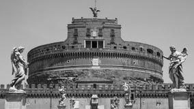 De engelen van Castel Sant & x27; Angelo Stock Afbeeldingen