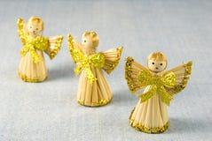 De Engelen van de Decoratie van Kerstmis Stock Foto