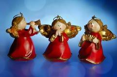 De engelen van Kerstmis Stock Afbeeldingen