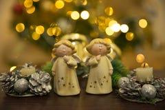De Engelen van Kerstmis Stock Afbeelding