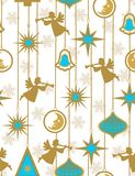 De engelen van Kerstmis - naadloos patroon Stock Foto