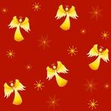 De Engelen van Kerstmis van Tileable Royalty-vrije Stock Fotografie
