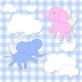 De engelen van olifanten stock illustratie