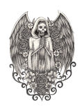 De engelendag van de kunstschedel van de doden Stock Afbeeldingen