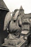 De engelenstandbeeld van de begraafplaats Stock Afbeeldingen