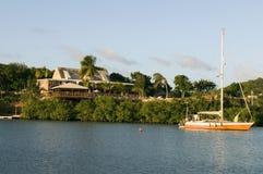 De Engelse Antigua van de de luxevilla van de Havenzeilboot Stock Foto's