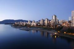 De Engelse Baai van Vancouver bij zonsondergang Stock Fotografie