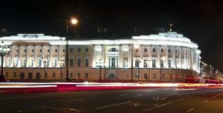 De Engelse dijk, Heilige Petersburg, Rusland Stock Fotografie