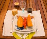 De Engelse ham van Meloen Stock Afbeelding