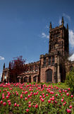 de Engelse Kerk van de 15de Eeuw stock afbeelding