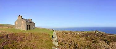 De Engelse Panorama Verlaten Kloven van het Huis Coutryside royalty-vrije stock foto's