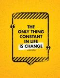 De Enige Constant Thing In Life Is-Verandering Inspirerend Creatief Motivatiecitaat Vector het Ontwerpconcept van de Typografieba royalty-vrije illustratie
