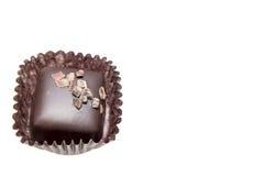 De enige Donkere Vierkante Truffels van de Chocolade Stock Afbeelding