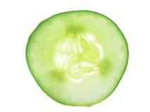 De enige geïsoleerdes plak van de Komkommer, Royalty-vrije Stock Afbeeldingen