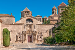 de entrance玛丽亚修道院poblet圣诞老人西班牙 库存图片