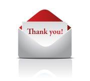 De envelop met dankt u Word Royalty-vrije Stock Afbeeldingen