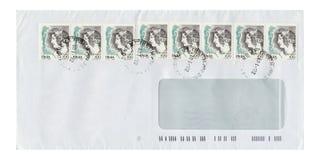 De envelop van de brief MET ZEGELS Royalty-vrije Stock Afbeelding