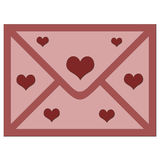 De envelop van de liefde. royalty-vrije illustratie