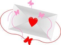 De envelop van de liefde Stock Foto