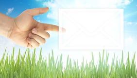 De envelop van de post stock afbeelding