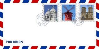 De envelop van de post stock afbeeldingen