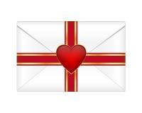 De envelop van de valentijnskaart Royalty-vrije Stock Foto's
