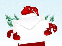 De envelop van Kerstmis stock illustratie