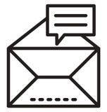 De enveloplijn isoleerde vectorpictogram kan gemakkelijk worden gewijzigd en uitgeven stock fotografie