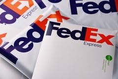 De enveloppen en de pakketten van Fedex royalty-vrije stock fotografie