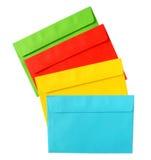 De enveloppen van de kleur. royalty-vrije stock afbeelding