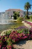 de ephrussi trädgårds- rotschildvilla Royaltyfri Fotografi