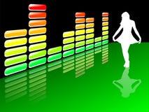De equaliser van de muziek Stock Fotografie