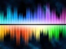 De equaliser van de regenboog vector illustratie