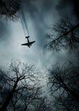 De era van de vliegtuigwereldoorlog ii tijdens de vlucht Royalty-vrije Stock Fotografie