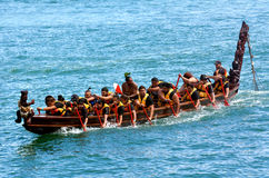 De erfenis die van Maoriwaka in Auckland, Nieuw Zeeland varen Stock Fotografie