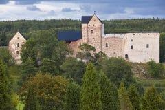 De erfenis van Finland in Aland-eilanden Kastelholm gegoten herbouwd Slott stock afbeelding