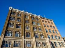 De erfenisgebouwen van Saskatoon stock afbeeldingen