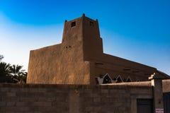 De Erfenismoskee, Advertentie Diriyah, Riyadh stock afbeelding