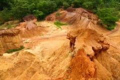 De erosie van de grond Royalty-vrije Stock Foto