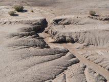 De erosie van de grond Stock Foto