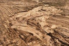 De erosie van de grond Stock Afbeeldingen