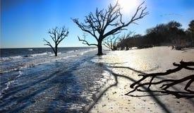 De Erosie van het strand Stock Foto's