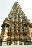 De Erotische Tempels van India in Khajuraho Royalty-vrije Stock Afbeeldingen