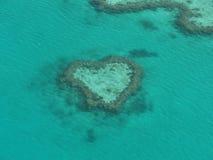 De Ertsader van het hart - het Grote Barrièrerif Stock Fotografie